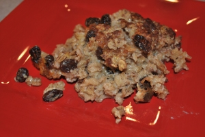 Baked Maple Cinnamon Raisin Oatmeal