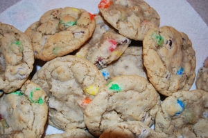 Granola M&M Cookies