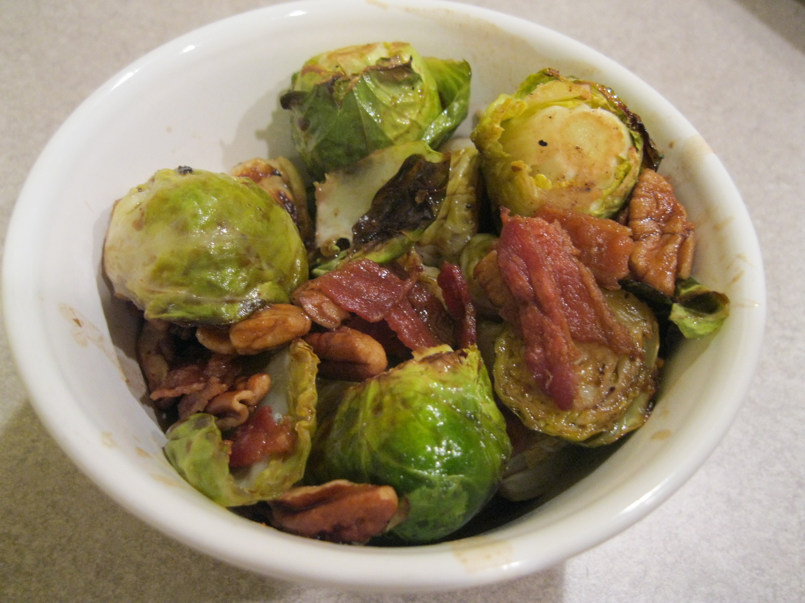Recipe: Roasted Brussels Sprouts with Bacon, Pecans and Maple-Balsamic ...