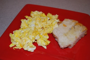 Scrambled Eggs with Colby Jack