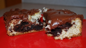 Cake Batter Brownie Snack Cake