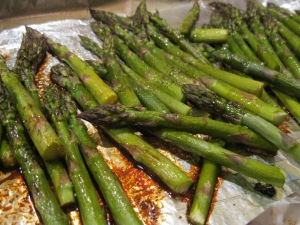 Roasted Asparagus with Brown Butter Sauce