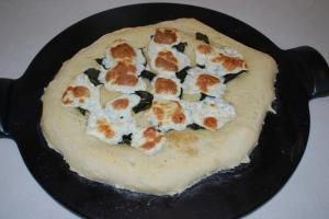 Basil and Mozzarella Pizza