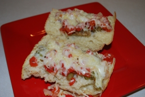 Eggplant Parmesan Bread Pizza