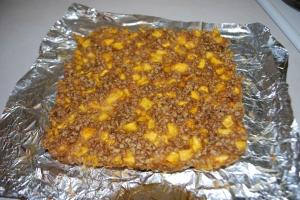 Peach Brown Butter Crumble Bars