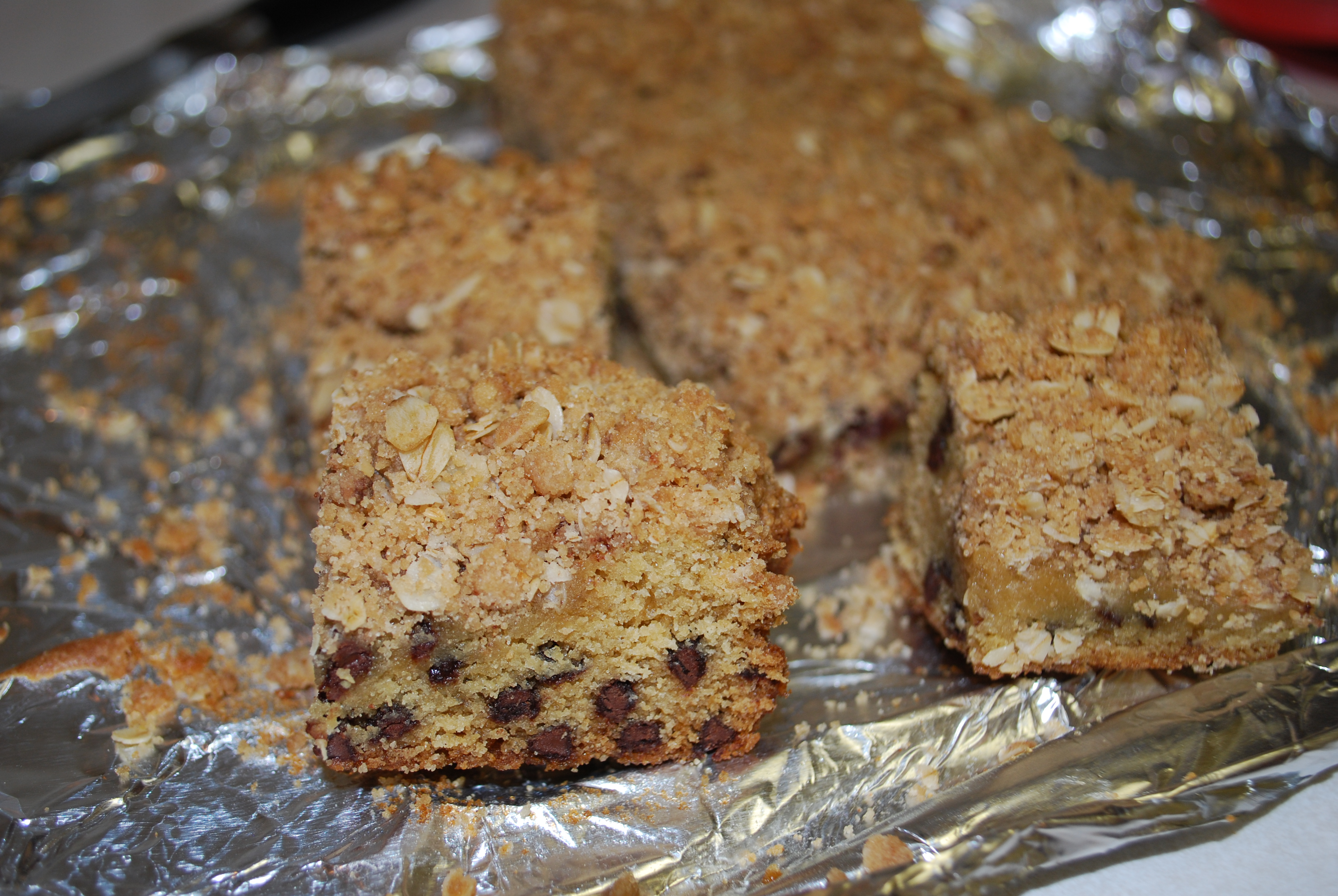 Chewy Oatmeal Blondies Recipe — Dishmaps