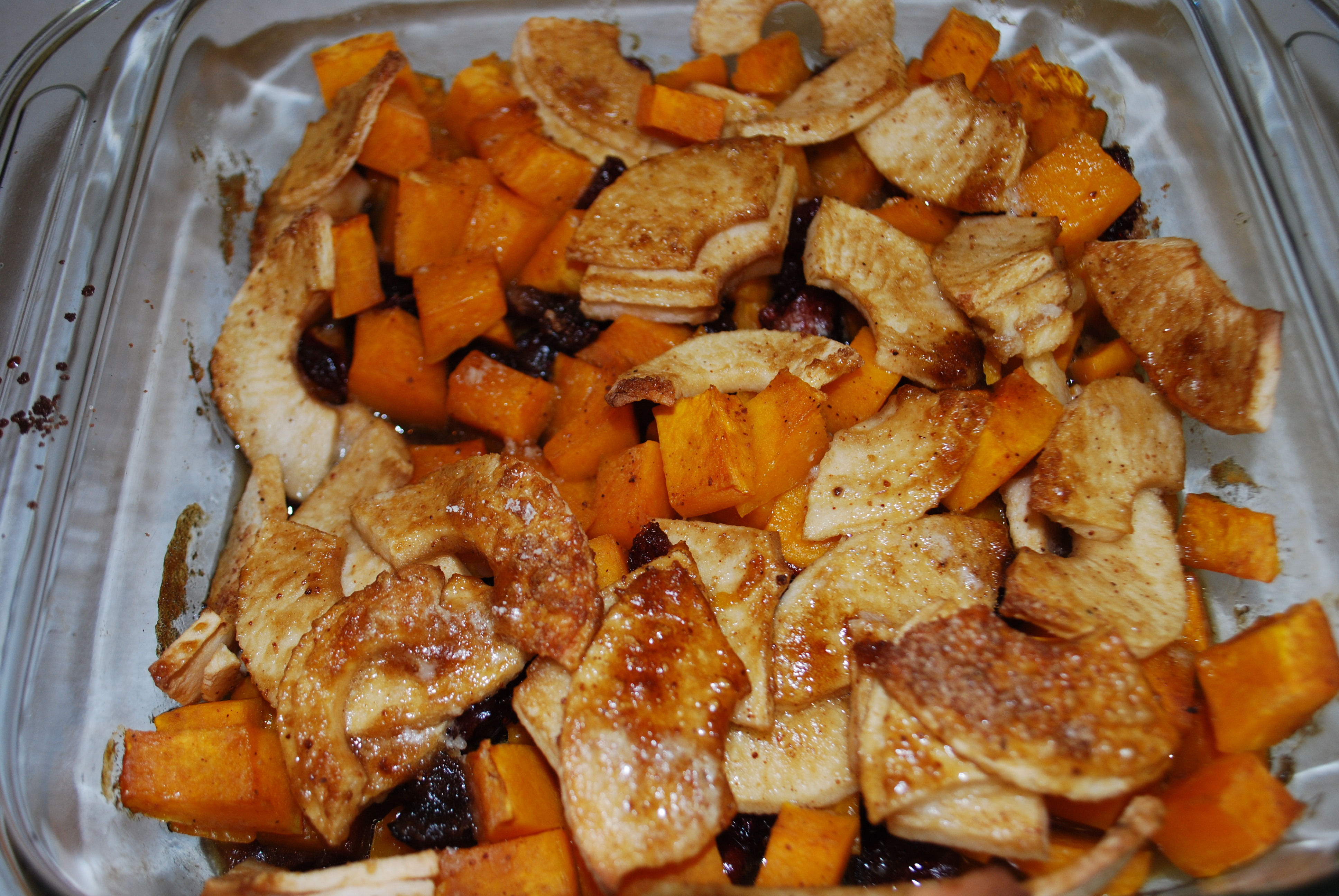 ... Photo a Day Challenge (Recipe: Butternut Squash Apple Cranberry Bake