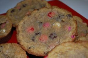 M&M Mini Muffin Cookies1