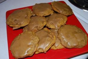 Pumpkin Cookies with Penuche Glaze