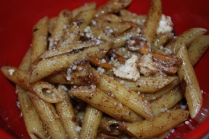 Pasta with Brown Butter, Cinnamon, Almonds and Feta