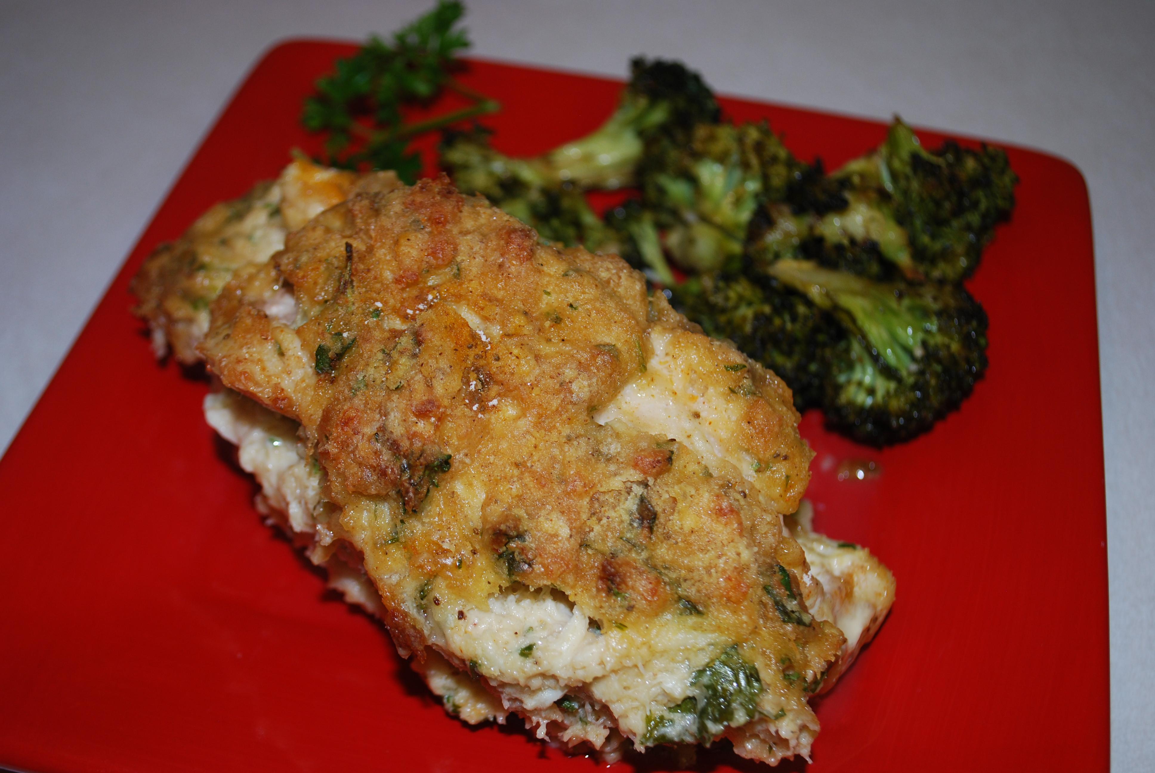 And Callie Peed! (Recipe: Chicken Chesapeake)   Oven Lovin' Runnin'