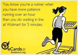 running an hour