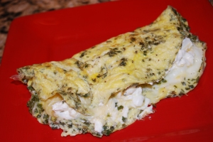 Cream Cheese  & Chive Omlette