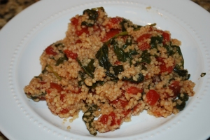 Balsamic Couscous with Spinach