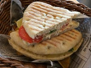 Airport Tomato and Mozzarella Sandwich