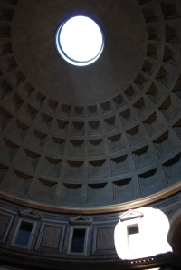 The dome of the Pantheon is incredible!