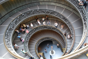 The staircase in the Vatican--around and around you go!