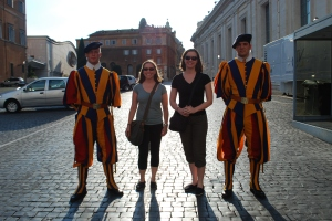 We totally got our picture taken with the Swiss guards...