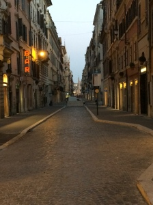 Such quiet streets!