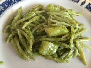 Pasta with Pesto in Cinque Terre