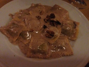 Walnut and Gorgonzola Ravioli