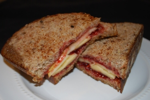 Apple, Preserves and Gouda Grilled Cheese