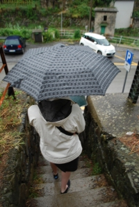 It was raining when we got to Manarola!