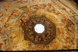 The ceiling of the Duomo.