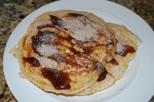 Caramel Cinnamon-Sugar Pancakes