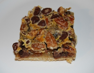 Chocolate Chip Pean Pie Bars