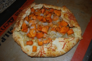 Parmesan Crusted Sweet Potato Galette