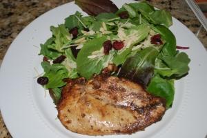 Balsamic Vinaigrette Chicken Over Greens