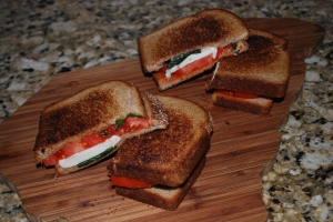 Grilled Margherita Sandwiches