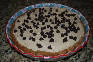 Chocolate Chip Cookie Crusted Peanut Butter Pie