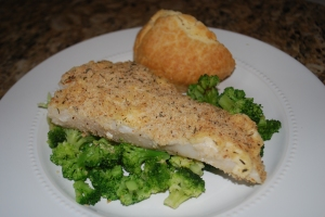 Parmesan Herb Baked Flounder