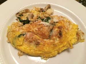 Chicken and Spinach Omlette